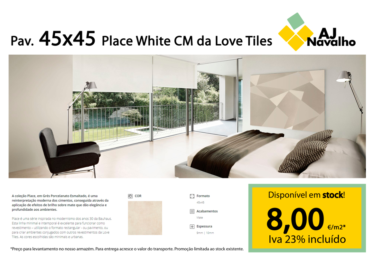 Pavimento 45x45 Place White da Love Tiles